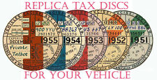 TAX DISCS.4QUALITY REPLICA REPRO & CORRECT FONTS+1921~THE FUTURE -- MOT REMINDER