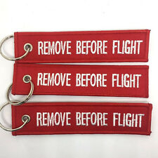 Embroidery Red Key Ring Flight Key Chain Luggage Bag Hanging Decor Collectables