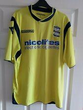 Birmingham City Diadora Yellow Away Shirt 2013 / 14 Blues Size Large Adults KRO
