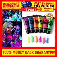 Glow In The Dark Paint Luminous Rave Makeup Fluorescent Face Body Tattoo Paint