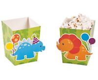 Pack of 12 - Lil Dinosaur Popcorn Boxes - Party Supplies