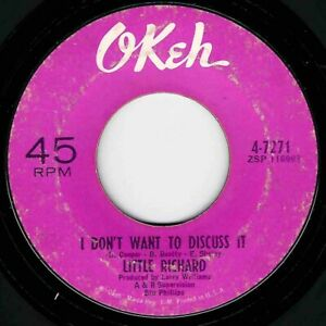 """NORTHERN SOUL - LITTLE RICHARD - I DON'T WANT TO DISCUSS IT - OKEH - """"HEAR"""""""