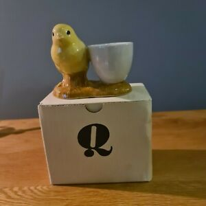 Quail Ceramic Chick With Egg Cup - Boxed