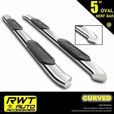 "99-13 GMC SIERRA 1500 2500 EXTENDED CAB 5"" OVAL CURVED NERF BARS SIDE STEPS RAIL"