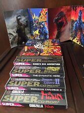 SEALED PC Engine Dynastic Hero Bonk 3 CD Dungeon Explorer 2 Godzilla
