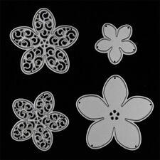 4Pcs Flower Metal Cutting Dies Stencils DIY Scrapbook Memory Box Paper Album New