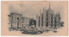 CARTOLINA - MILANO PIAZZA DEL DUOMO 1878/C