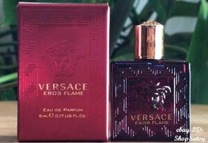 VERSACE Eros Flame EDP Fragrance Cologne Mini Bottle Travel Size 0.17 oz / 5 mL