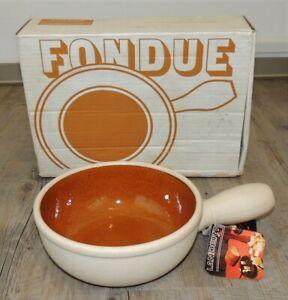 Vintage Landert 20cm Stoneware Fondue Casserole Pot - Boxed