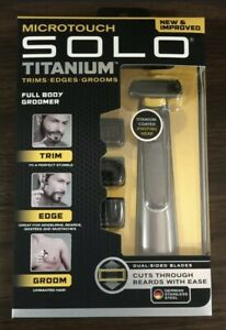 Micro Touch Solo Titanium Face / Full Body Groomer Trims Edges Grooms BRAND NEW