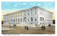 St Paul Minnesota~Public Library~1920s Postcard