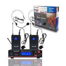 STARAUDIO Professional Dual Channel UHF Headset Wireless Microphone System Mic