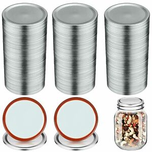 100 Pcs Regular Mouth Canning Lids - 70MM Mason Jar Canning Lids (Silver)