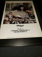 Melanie Rare Original 1972 #1 Artist Promo Poster Ad Framed!