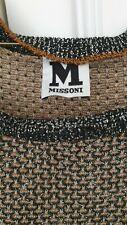 M missoni dress metallic tunic jumper dress knit sz S