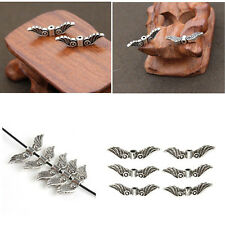 20Pcs Silver Tone Angel Fairy Wings Charm Spacer Beads For Jewelry Accessories Q