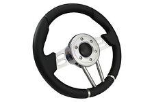 BLACK V2 SPORTS STEERING WHEEL 310mm 6x70mm fits Momo OMP boss kit
