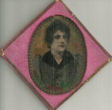 Antico Dipinto Ottocentesco su Vetro di Gentildonna