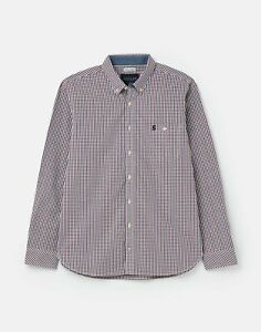 Joules Mens 211201 Bci Cotton Long Sleeve Classic Peached Poplin Shirt - Xl