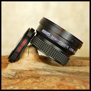 FREE UK POST 58mm Jessops Semi Fisheye 0.42x Wide Macro Digital convertor lens