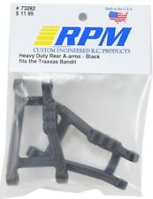 RPM R/C Products Part 73282 Black Rear HD Suspension A-Arms for Traxxas Bandit