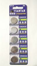 5 Pcs CR2032 3v Coin Cell Lithium Batteries 220mAh TianTan