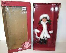 """Gotz new 11"""" Sue Christmas Doll Brown Hair Eyes Limited Edition NIB 28cm Germany"""