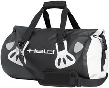 Held Carry Bag Pannier 30 Litre black white Motorcycle Luggage roll Duffel