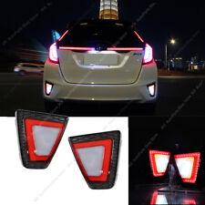 For Honda JAZZ/FIT 2014-17 LED Rear Bumper Lights Fog Lamp Reflector Refit k