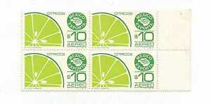 MEXICO EXPORTA SERIES BLOCK OF FOUR CITRUS  Mint Never Hinged