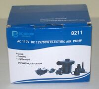 Electric Portable Air Pump for Inflatables Mattress (inflator/deflator)