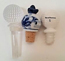 Lot of 3 Wine Bottle Stoppers