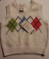 Gymboree Baby Boys Cardigan Sweater Vest Baby Argyle Diamond 3 6 months NWT $25