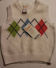 Gymboree Baby Boys Cardigan Sweater Vest Baby Argyle Diamond 3 6 months NWT $25