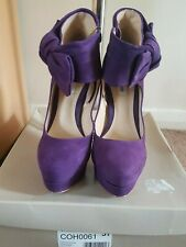 Purple Suede Shoes - Size UK 5