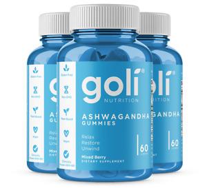 3-PACK Goli Ashwagandha Ashwa Gummies + Vitamin D2 Keep Calm Relax De-Stress