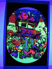 Vintage Psychedelic Blacklight Poster MODEL T Velvet Collectible Car Poster RARE