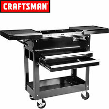 Craftsman 31 in 2 Drawers 1 Shelf Mechanic Rolling Tool Cart DIY Garage Black