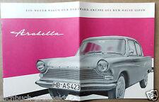 LLOYD ARABELLA  PROSPEKT 1959 BORGWARD BREMEN OLDTIMER SAMMLER