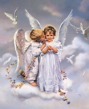 Sandra Kuck ANGEL KISSES - 20x16 open edition OUT OF PRINT Angelic Children Art