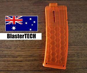 Worker Hexagonal 15 stefan/short dart magazine/clip forNerf (Orange/Transparent)
