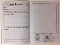 Reading Book Review Diary Motivational Record Writing KS1 Home School Education