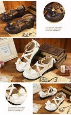 LOLITA Cute Bow Bunny Janpaese Womens Cute Tail Shoes Princess Flat Shoes#454