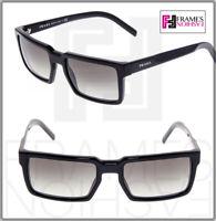 PRADA 03S TECHNIQUE Square Brown Gradient Sunglasses Unisex PR03SS Authentic