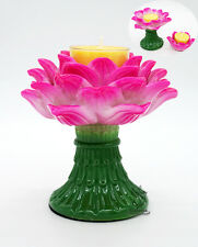 Tibet Buddhist Butter Light Candles Lamp Holder Lotus Flower Set Separable