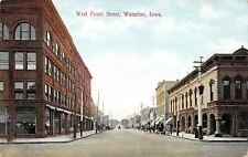 Waterloo Iowa~Cedar Valley Seminary~Black Bldg~W 4th Street~Postcard c1908