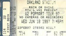 U2 PopMart Tour Ticket Stub 1997 Oakland Stadium California Presented by Mtv Vh1