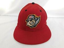 Altoona Curve Baseball Era 59FIFTY Red Flat Brim Fitted Hat Size 7 - Conductor