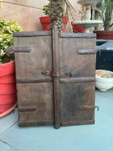 Antique Old Wooden Hand Carved Indian Old House Window Rare Door Wall Decor