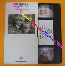 VHS film TOTO' PEPPINO E (HO DETTO TUTTO) Lello Arena EINAUDI (F139) no dvd